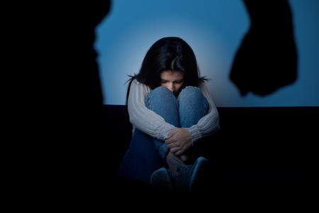 abusing: Violent husband abusing wife