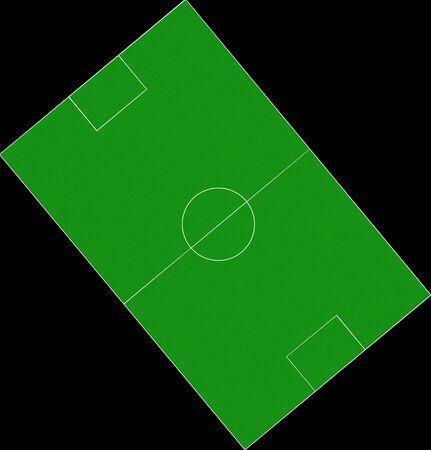 soccer field illustration illustration