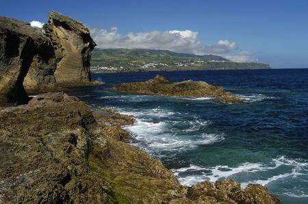 azores coast detail photo