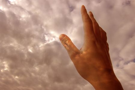 hand in the clouds