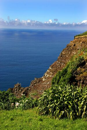 agriculture azores: azores natural landscape Stock Photo