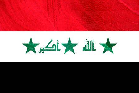 iraq war: iraque flag illustration, computer generated
