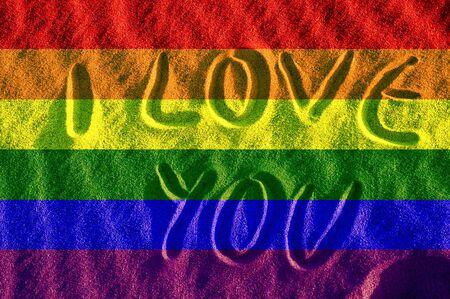 Orgulloso la bandera gay  Foto de archivo - 570066