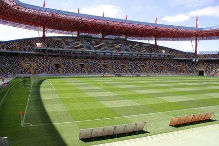 inside the stadium Stock Photo