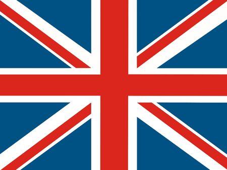 ilustration: england flag ilustration Stock Photo