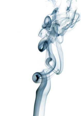 sway: artistic blue smoke in a white background
