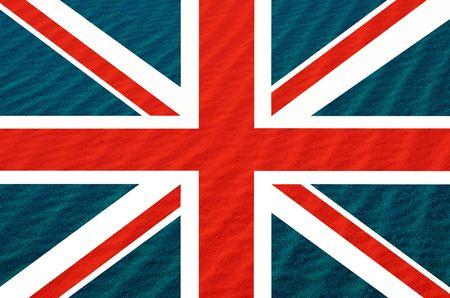brit: england flag ilustration Stock Photo