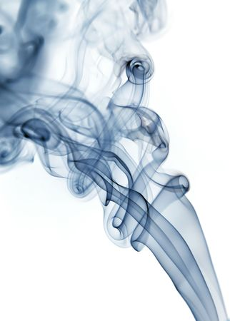 blue rays smoke abstract in white background Stock Photo - 685836
