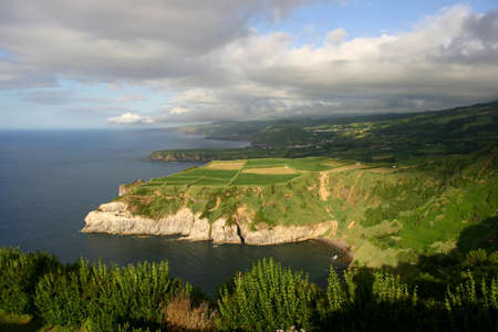 agriculture azores: azores coastal view