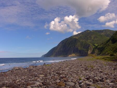 agriculture azores: azores beach Stock Photo