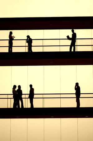 workers silhouette photo