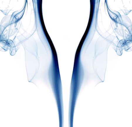 blue abstract smoke in a white background