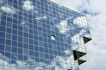 modern office building and the blue sky Stock Photo - 699373