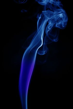 blue colored abstract smoke in black background photo