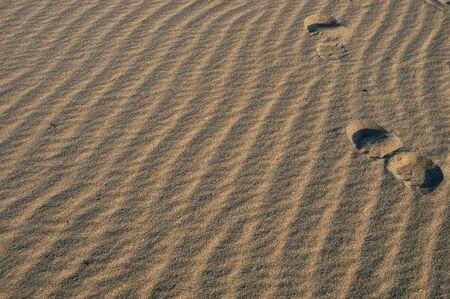pilgramige: footprints in the sand