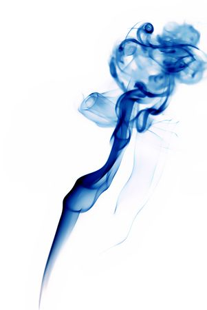 abstract blue smoke in a white background Stock Photo - 758660