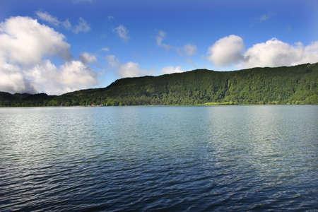 azores furnas lake at sao miguel island photo