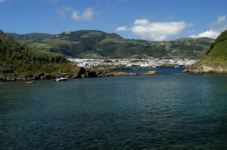 azores village from the sea Stock Photo - 785342