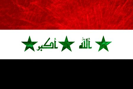 iraq war: iraq colored textured flag illustration, computer generated Stock Photo