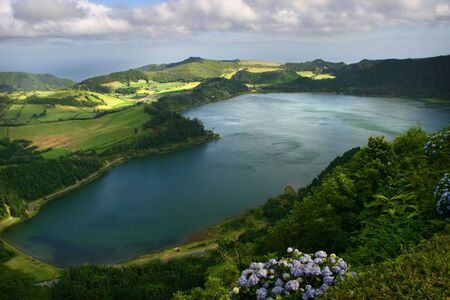 azores lake of furnas photo