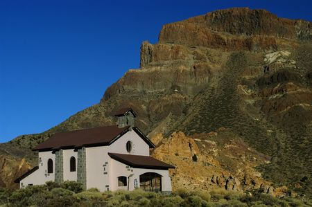 catechism: church in tenerife island at el teide mountain