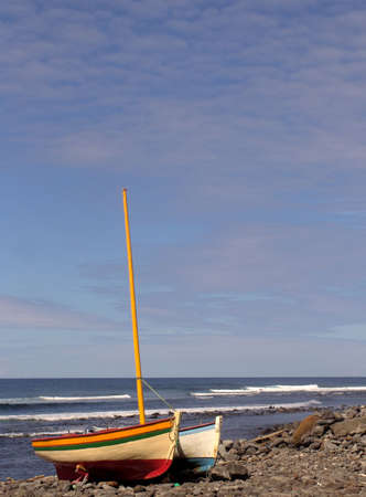 dorset: boats in land, azores coast