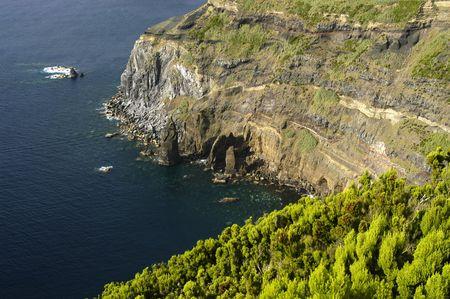 azores coastal cliff Stock Photo - 871205