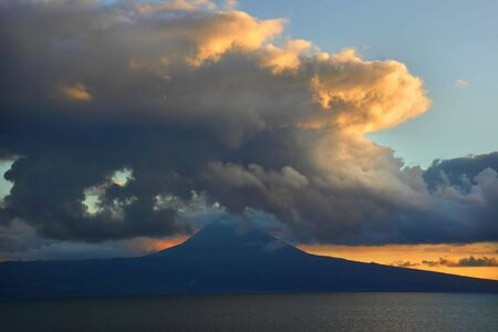 sunset on pico island Stock Photo - 877173