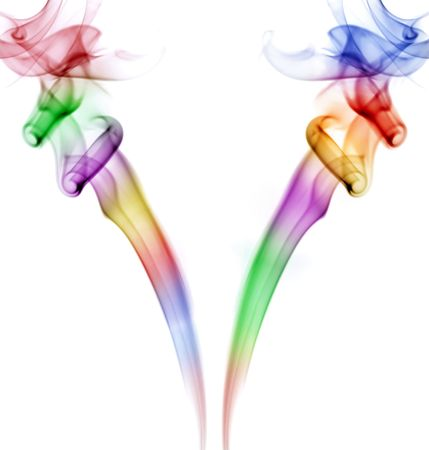colored smoke lines in a black background Stock Photo - 890331