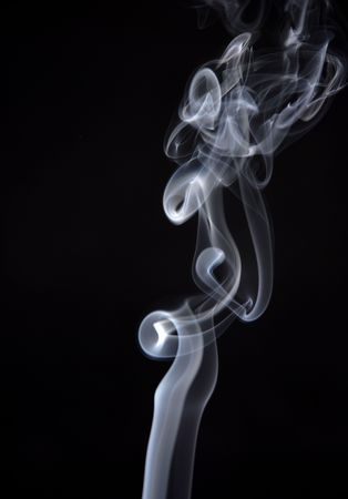 smoke from a cigarette in a black background Stock Photo - 908471