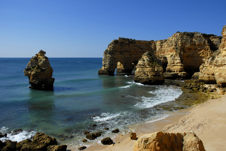 portuguese Algarve beach, the south of the country Stock Photo