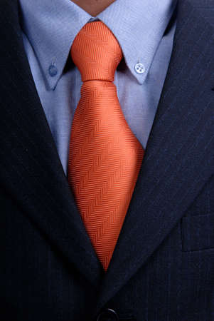 detail of a Business man Suit with red tie Stock Photo - 1656405