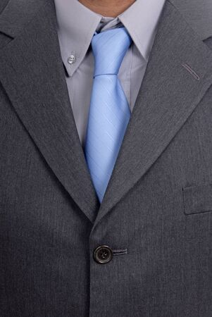 detail of a Business man Suit with blue tie Stock Photo - 1684377