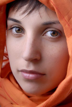 young woman close up portrait, studio picture Stock Photo - 1729139
