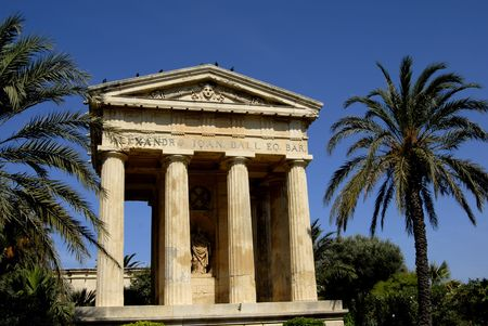 ancient greek architecture in the island of malta photo