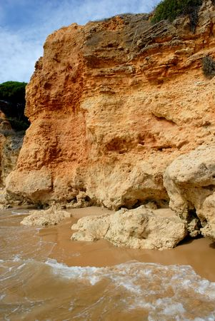 small beach at algarve in the south of portugal Stock Photo - 1745264