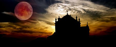 church at sunset near oporto in the north of portugal Stock Photo - 1933869