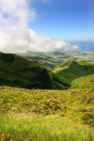 azores typical view at the island of Sao Miguel photo