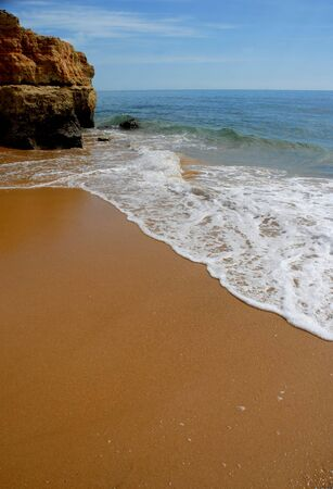 small beach at algarve, the south of portugal Stock Photo