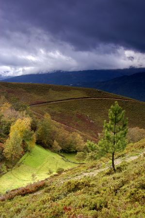 autumn landscape in the north of portugal photo