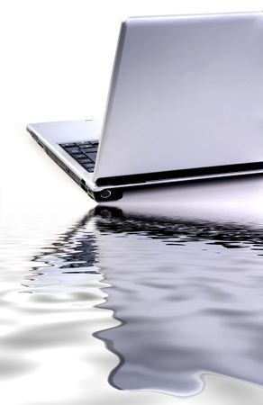 isolated laptop detail in a white background Stock Photo - 2182600