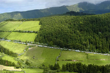 azores green fields at sao miguel island Stock Photo - 2222562