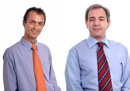 two young business men portrait on white. Stock Photo - 2235167