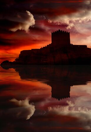 Castle of Sortelha in the mountains of portugal Stock Photo