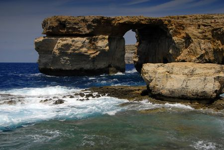 dwejra landmark in the island of gozo, malta 스톡 콘텐츠