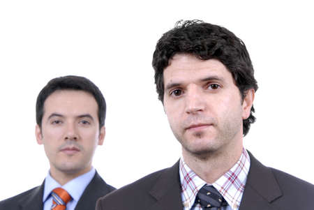 two young business men portrait on white. focus on the right man Stock Photo - 2263026