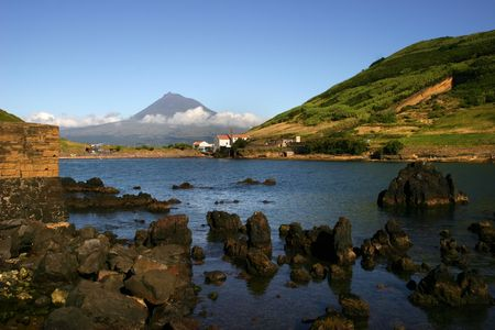 azores view of Porto Pim in Faial Island Stock Photo - 2313461