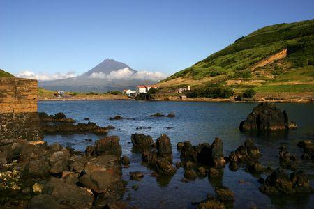 azores view of Porto Pim in Faial Island photo