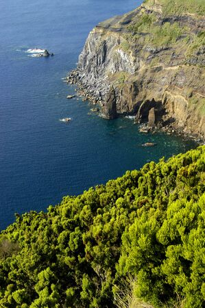 azores coastal view at s miguel island photo