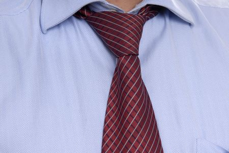 detail of a Business man Suit with red tie Stock Photo - 2378732
